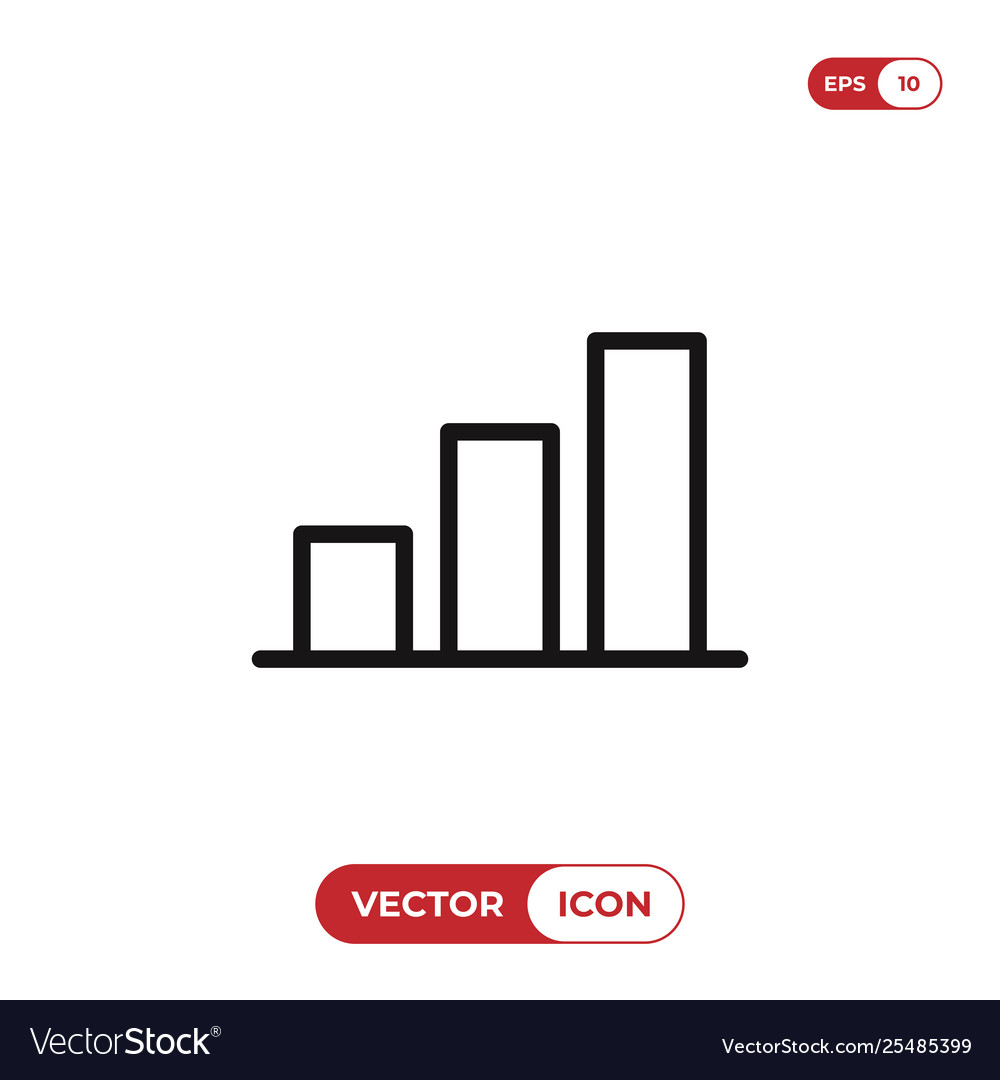 Graphic bar chart icon