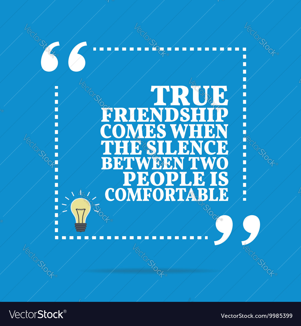 inspirational motivational quote true friendship vector image
