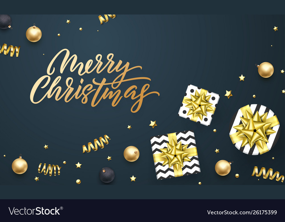 Merry christmas greeting card background template
