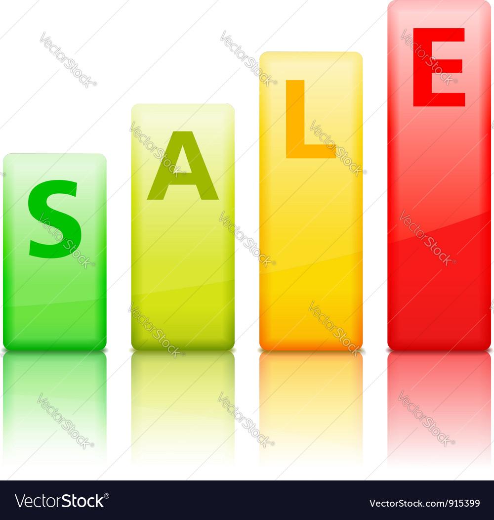 Sale Graph vector image