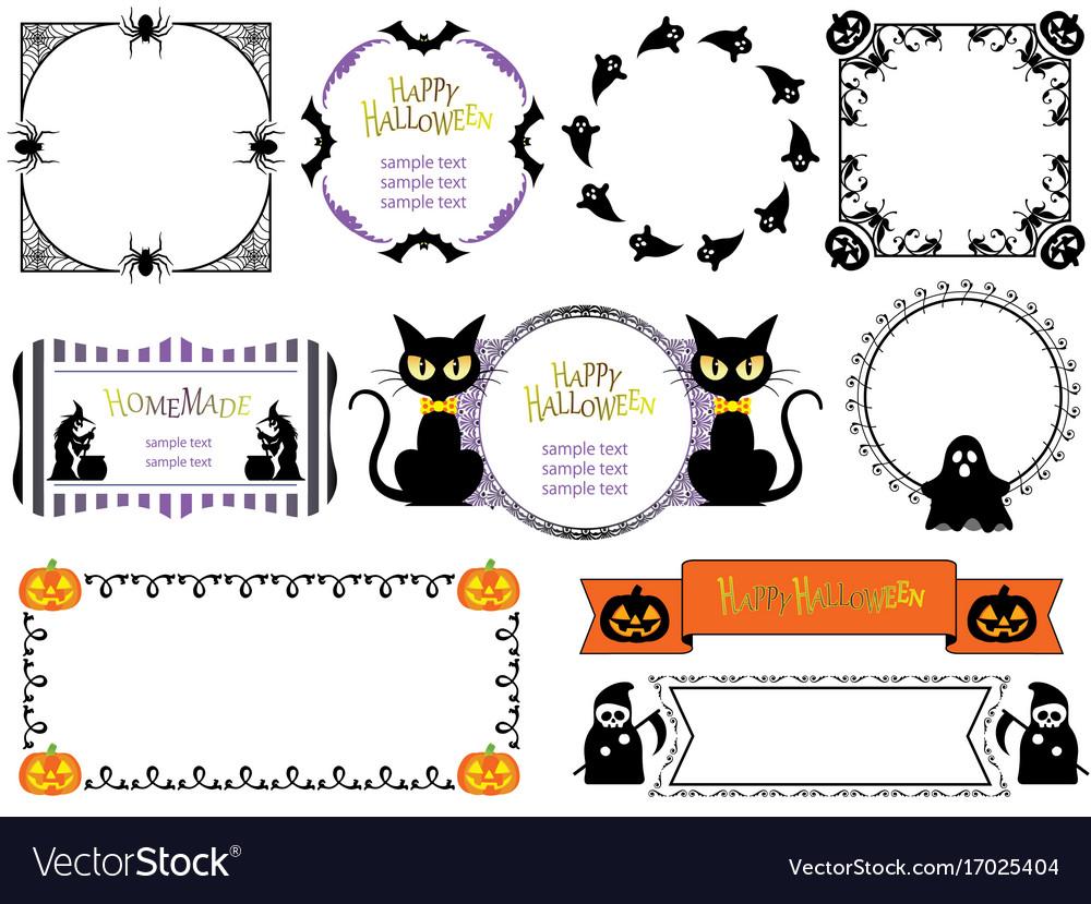 A happy halloween frame set