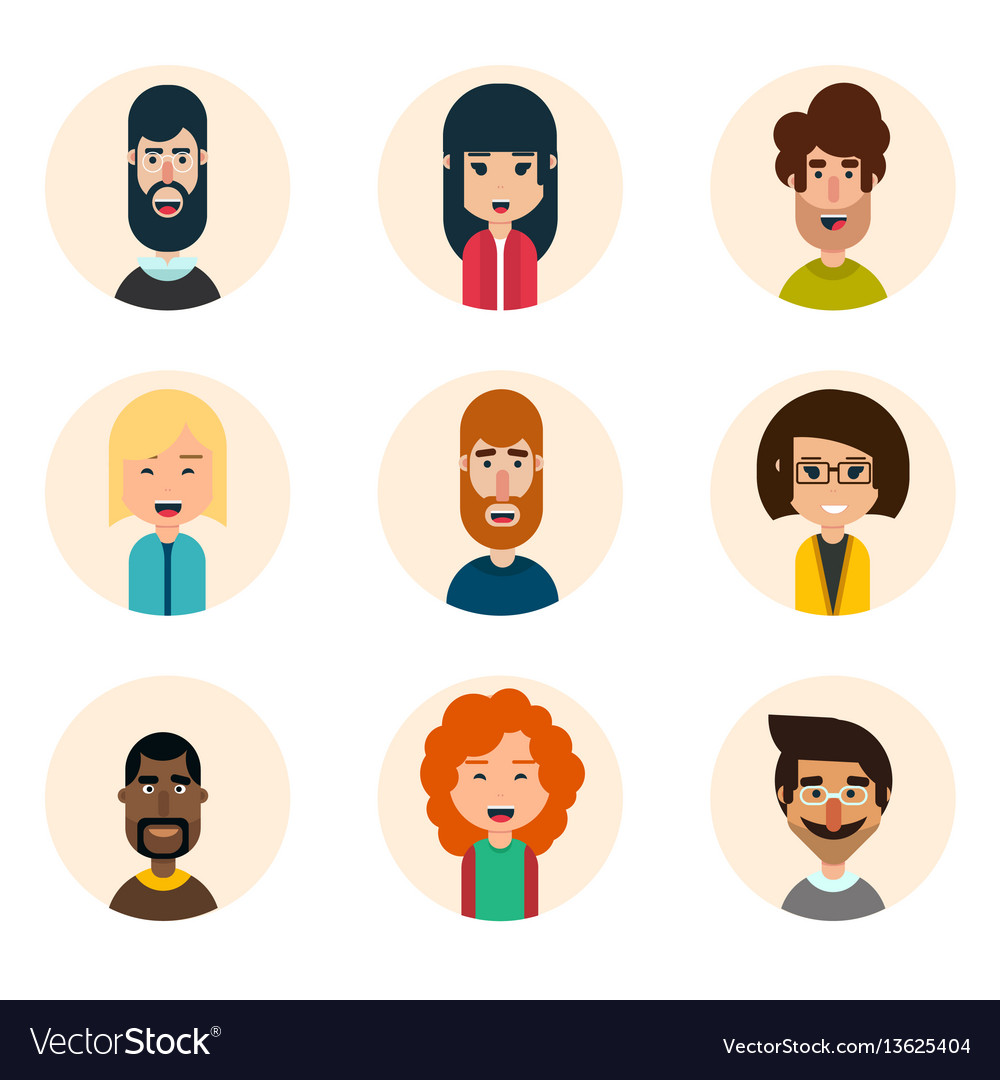 Avatars set vector image