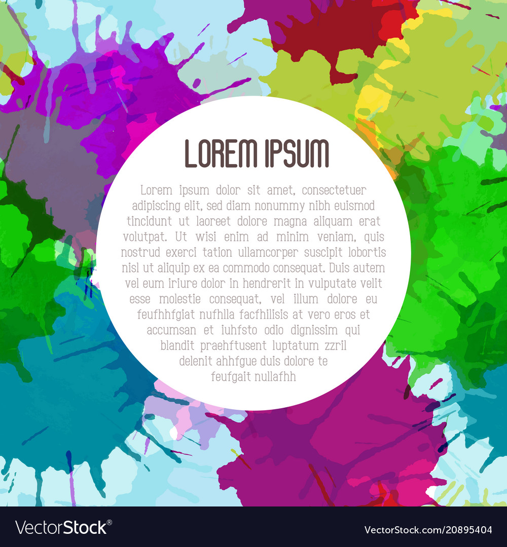 Bright watercolor background with paint blots