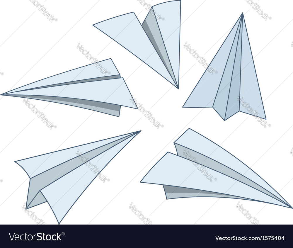 Cartoon paper planes vector image