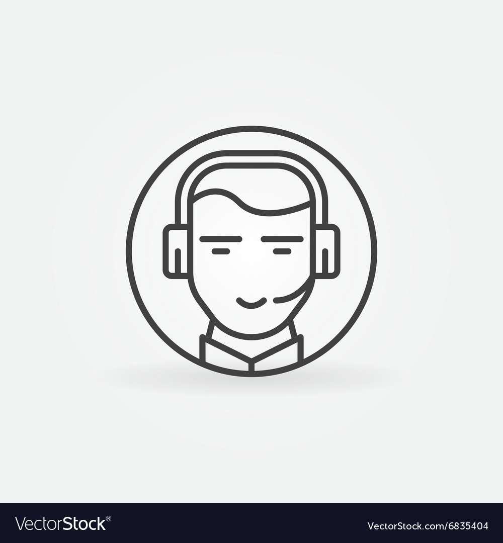 Consultant or operator icon vector image