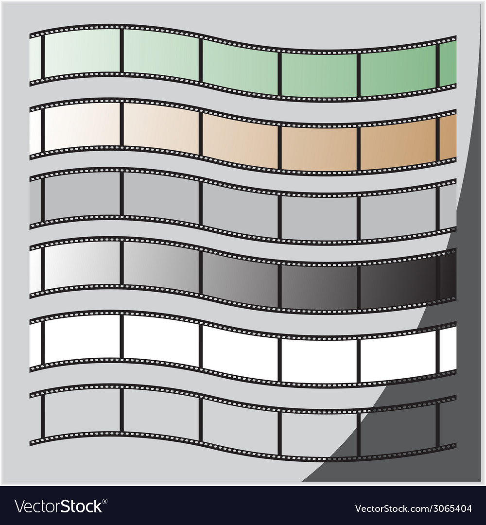 Curve FILM SET vector image