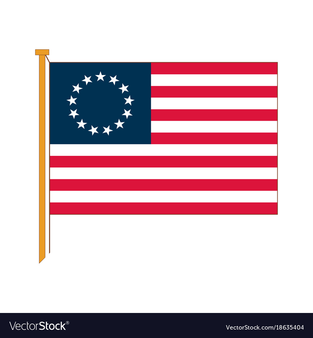 Detailed reproduction of the official flag vector image