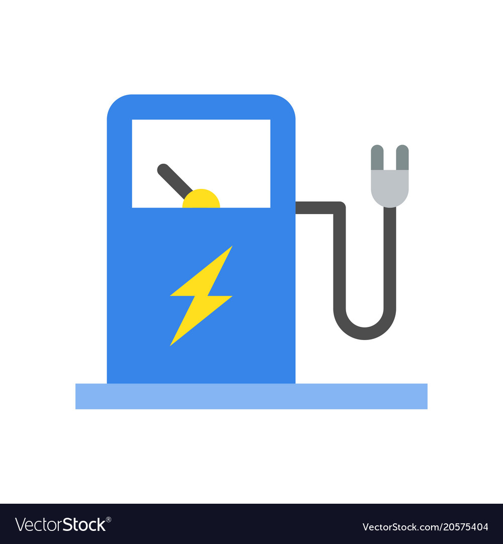 Electric Vehicle Charging Station Icon Royalty Free Vector