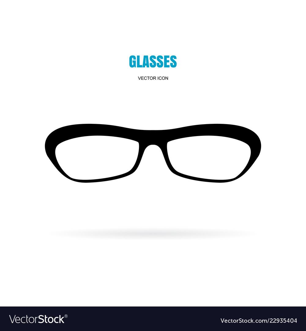 Eye Glasses Icon Isolated On White Background