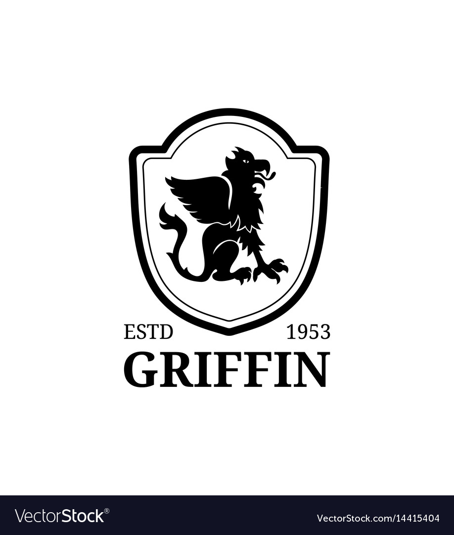 Griffin Logo Template Luxury Crest Vector Image