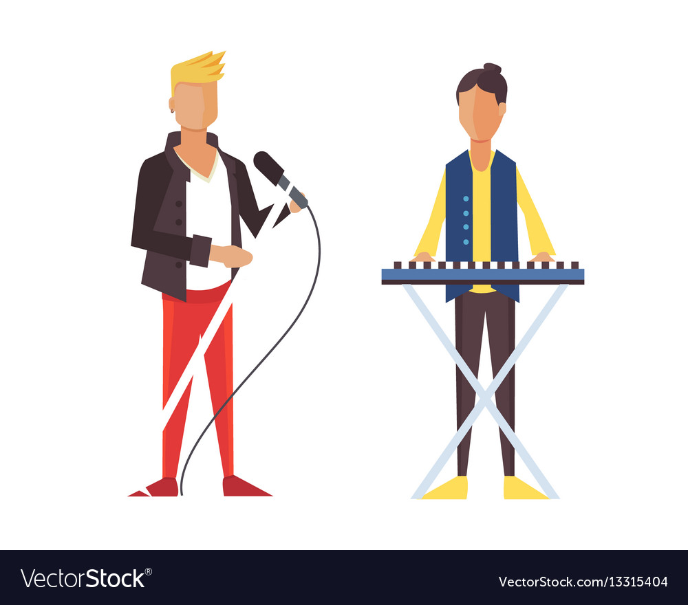 Pop singer flat isolated rock