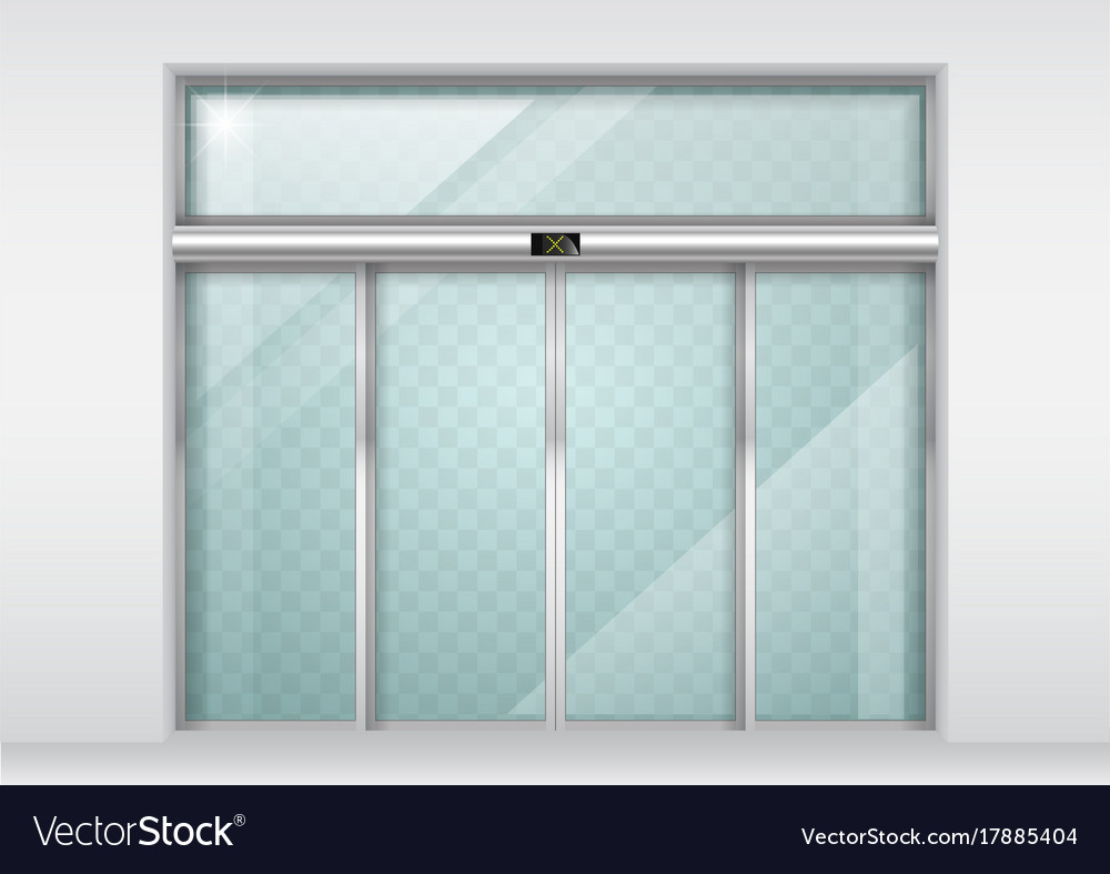 Sliding Glass Automatic Doors Royalty Free Vector Image
