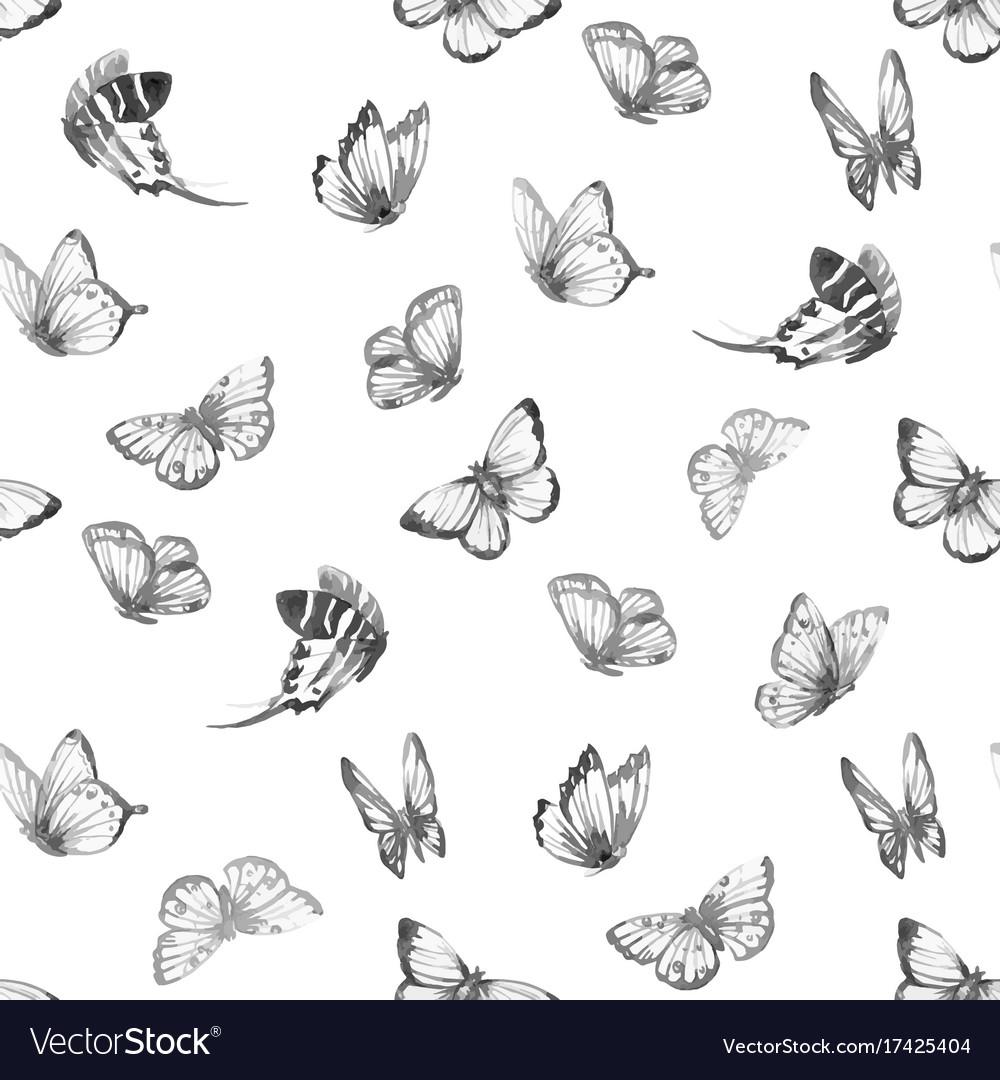 Watercolor butterfly pattern