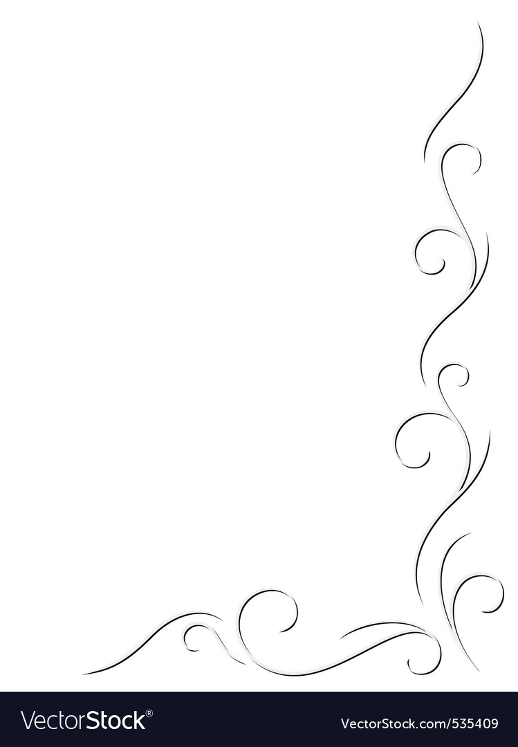Abstract swirly decoration vector illustration