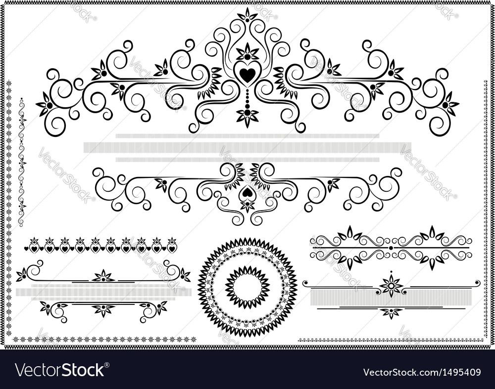 Decorative ornament border