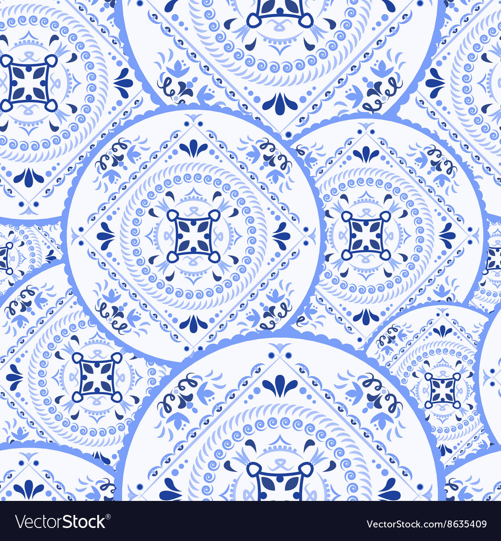 Ethnic pattern Mandala ornament vector image