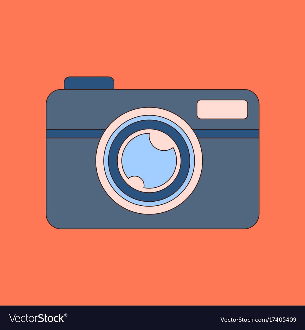 Flat icon on background camera