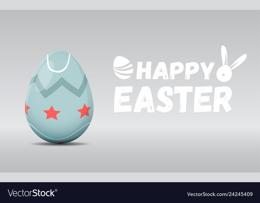 Happy easter greeting card with easter egg