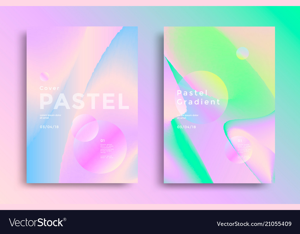 Pastel gradient covers