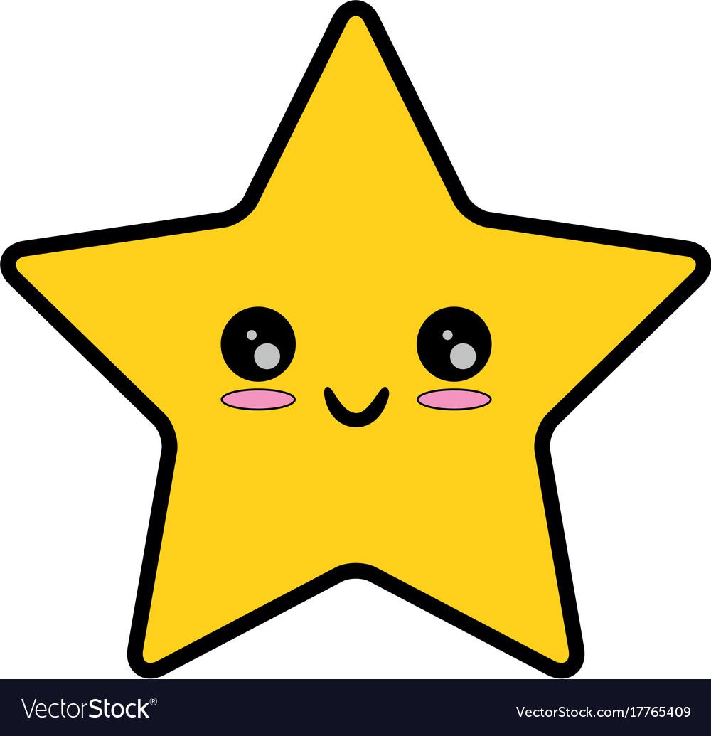 pixelated star kawaii icon royalty free vector image rh vectorstock com vector star outline victor starspeeder