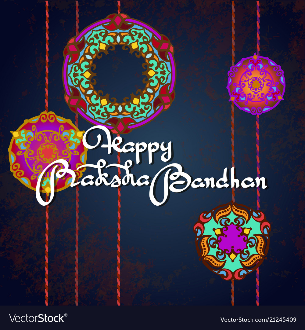 Raksha bandhan greeting card design royalty free vector raksha bandhan greeting card design vector image m4hsunfo