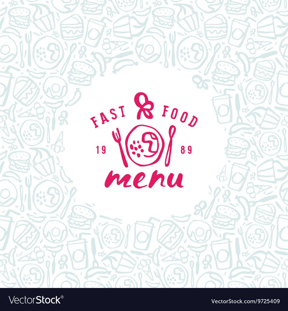Stock fast food cover for menu
