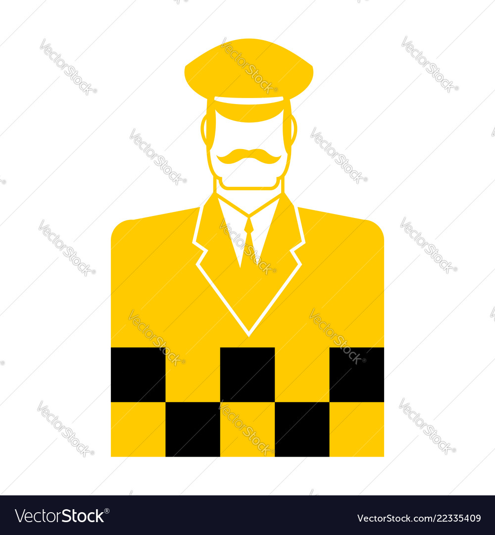 Taxi driver icon cabbie sign cabdriver symbol
