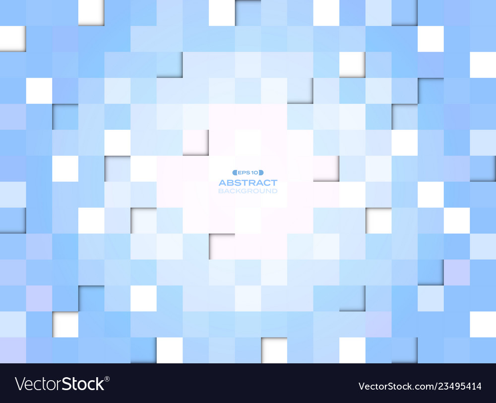 Abstract of blue gradient pixel square pattern