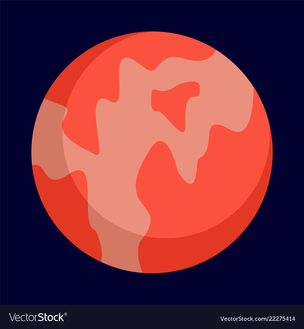 Abstract planet icon flat style