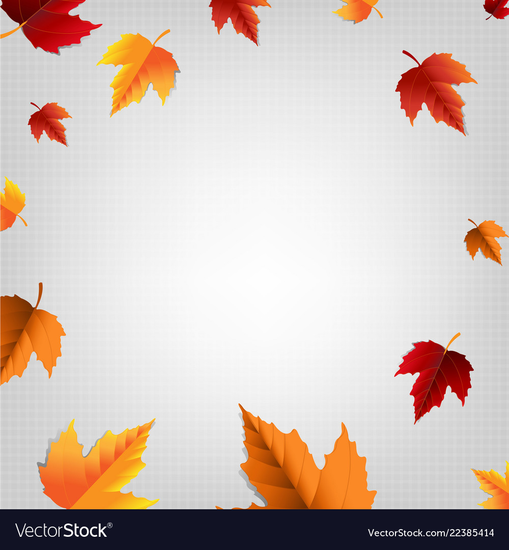 Autumn poster with leaf