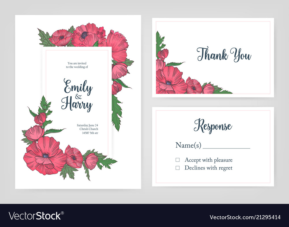Bundle elegant templates for wedding invitation