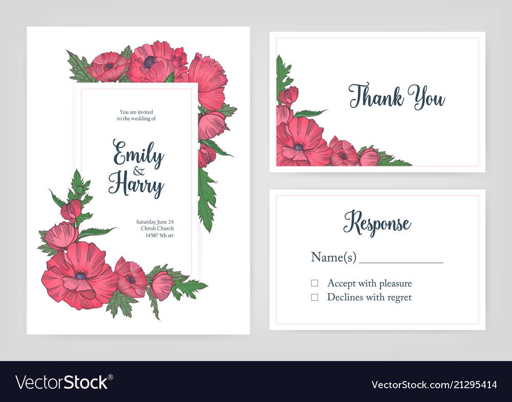 Bundle of elegant templates for wedding invitation