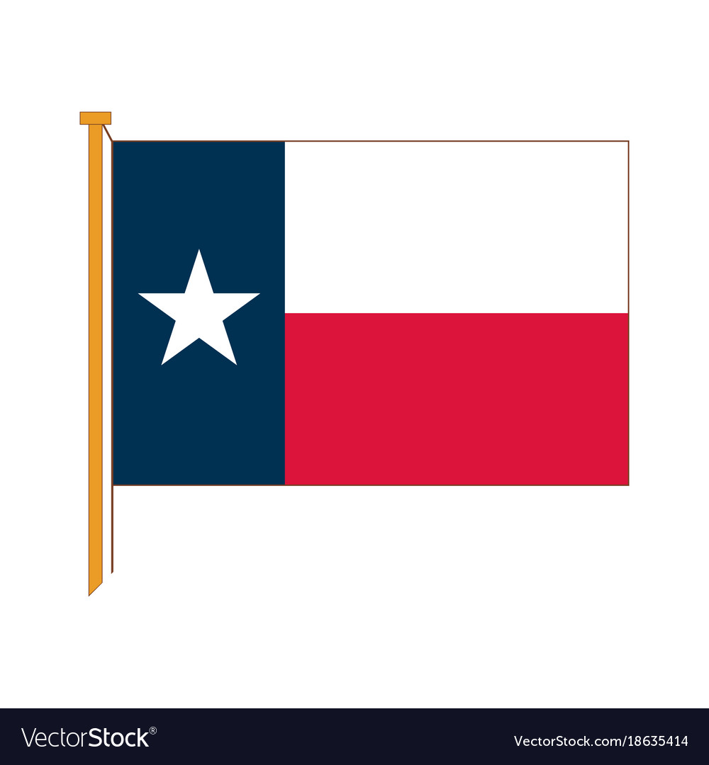 Detailed reproduction of the official flag texas