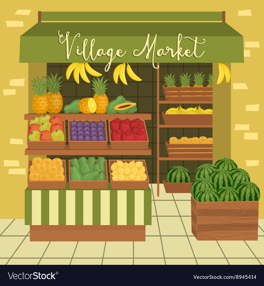 Farmers market Street food vector image