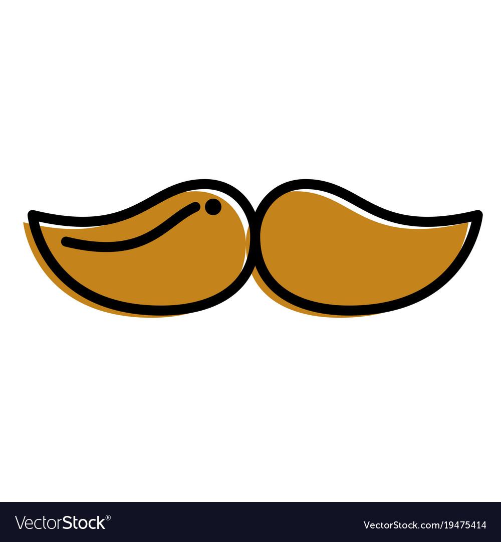 Mustache hipster fashion vintage image vector image