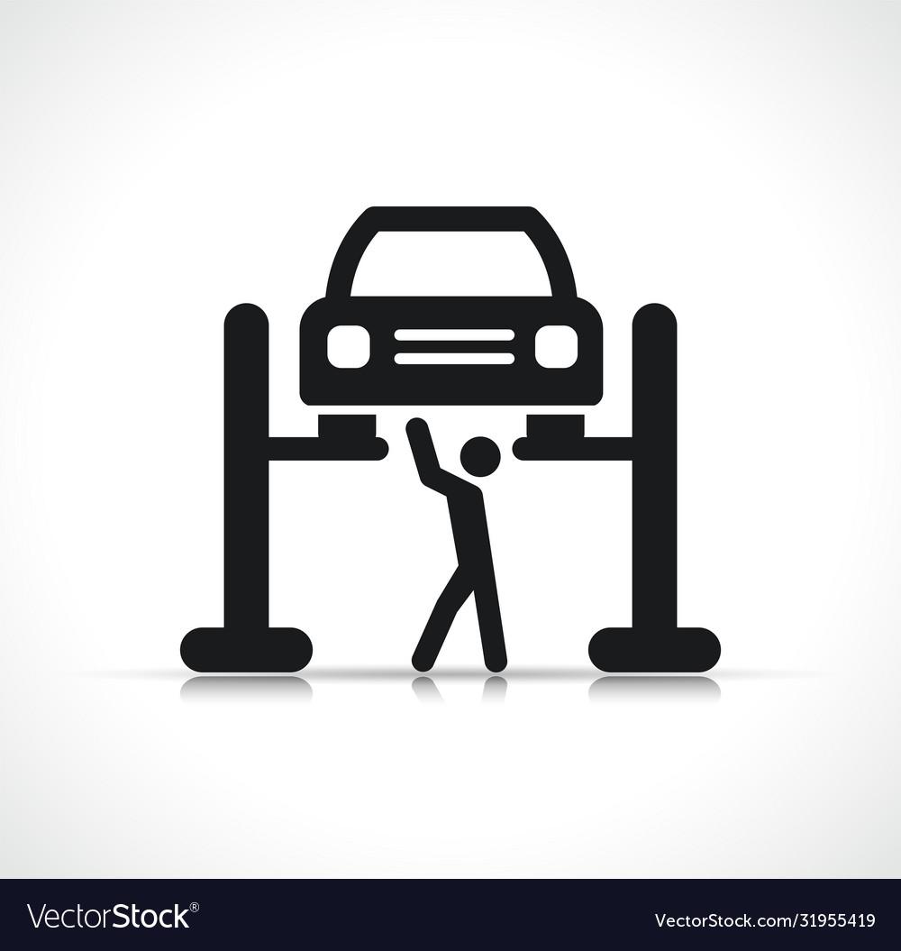 Car lift symbol icon
