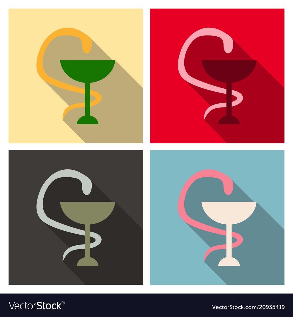 Emblem for drugstore or medicine the snake