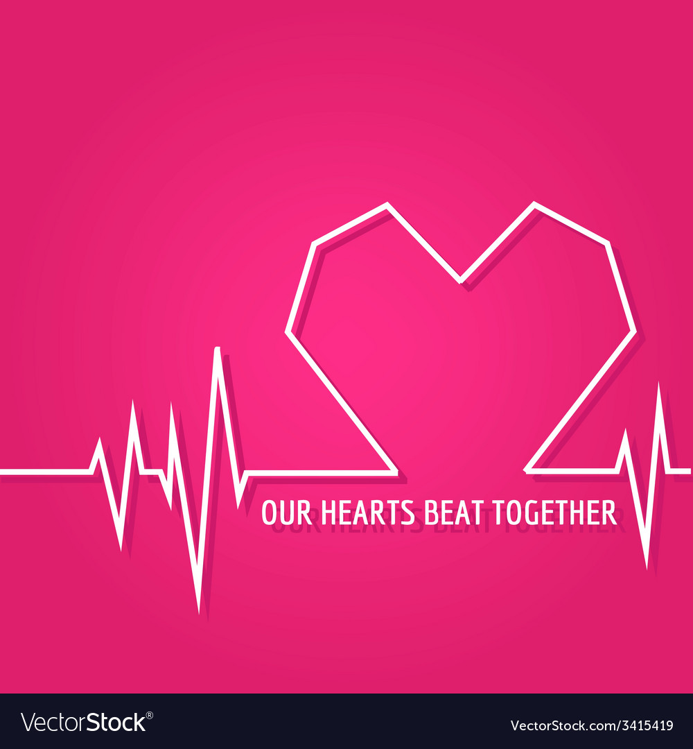 Heart Beat - Love Design for Valentines Day Logo