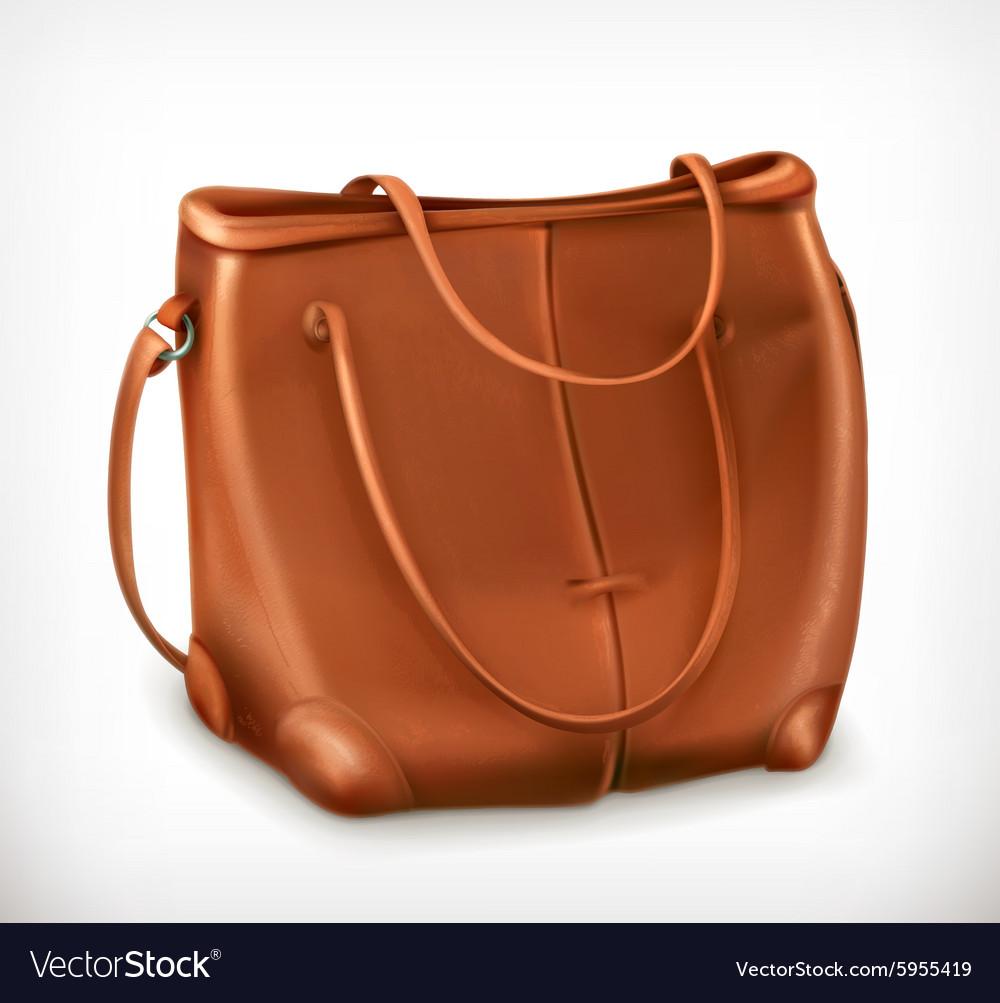 Leather handbag icon