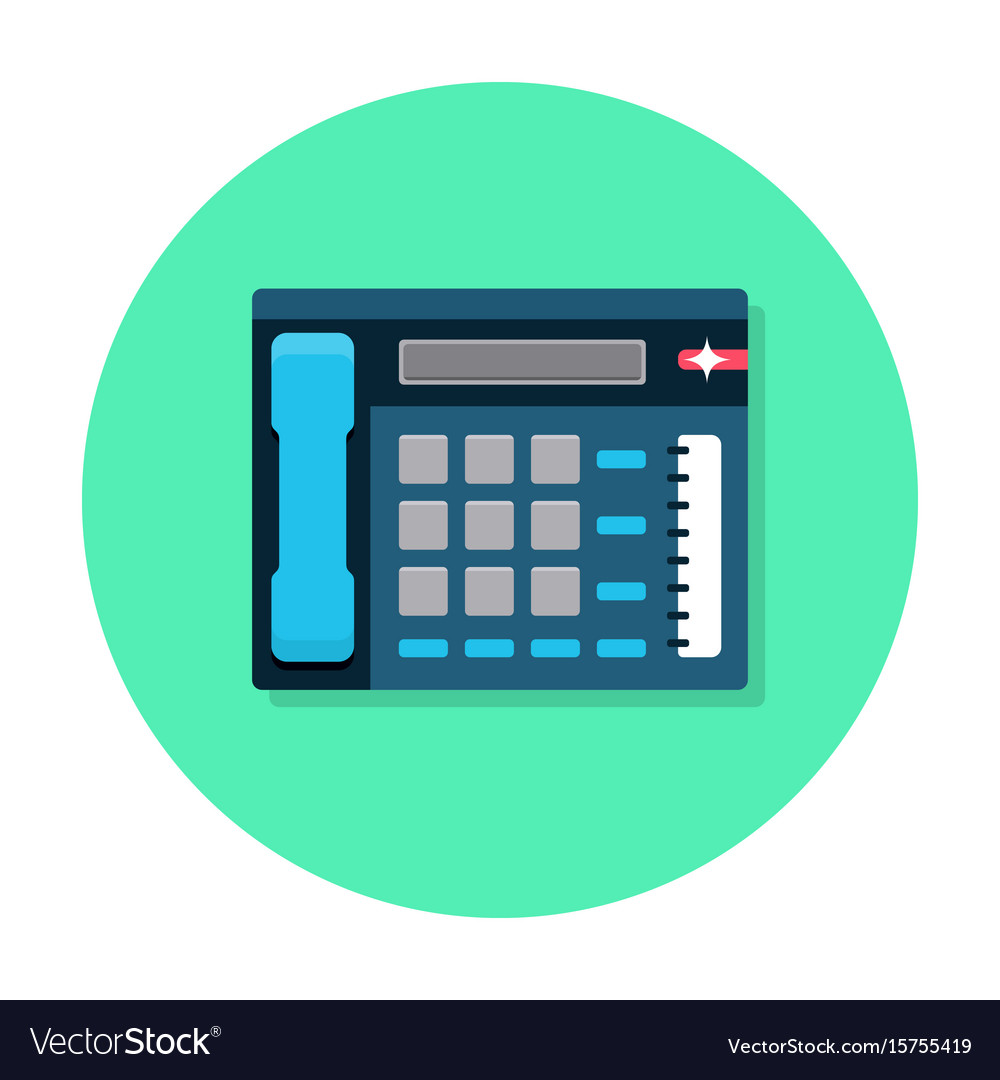 Office telephone flat icon vector image