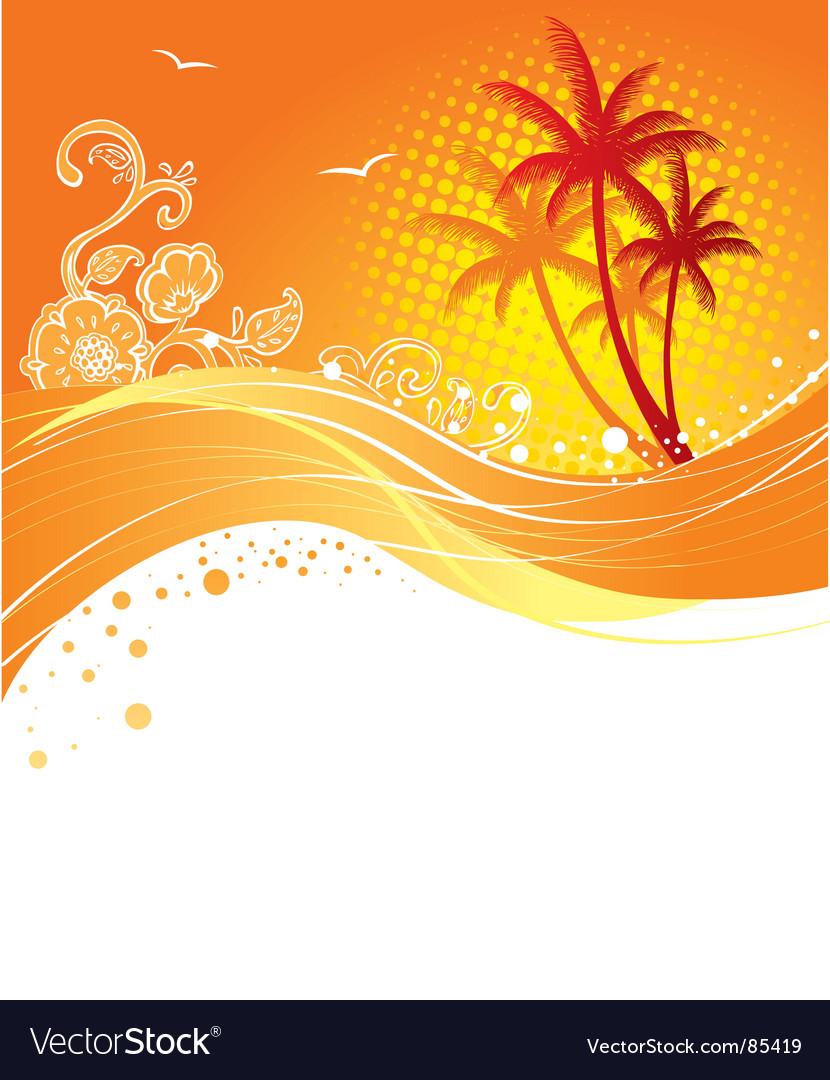 Palm curve vector image