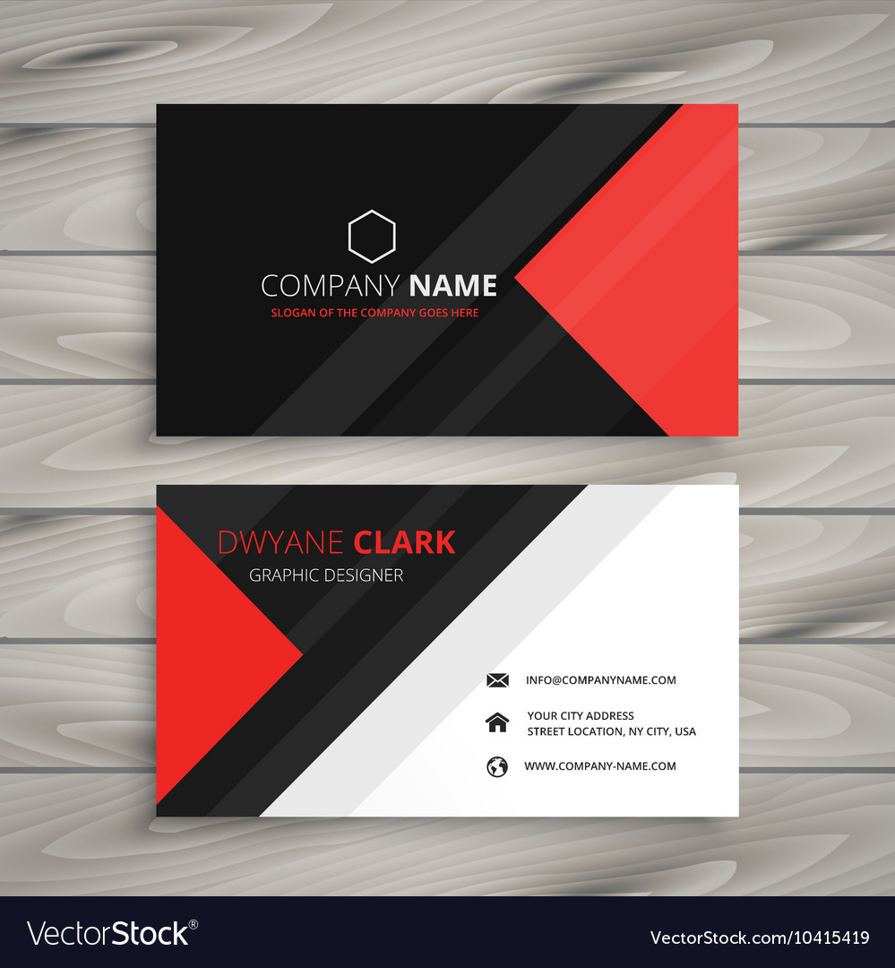 Red black corporate business card royalty free vector image red black corporate business card vector image reheart Images