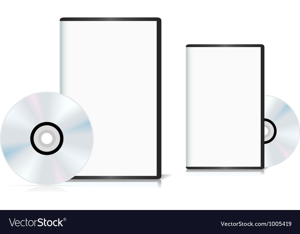 Set of DVD cases with a blank cover and shiny DVD