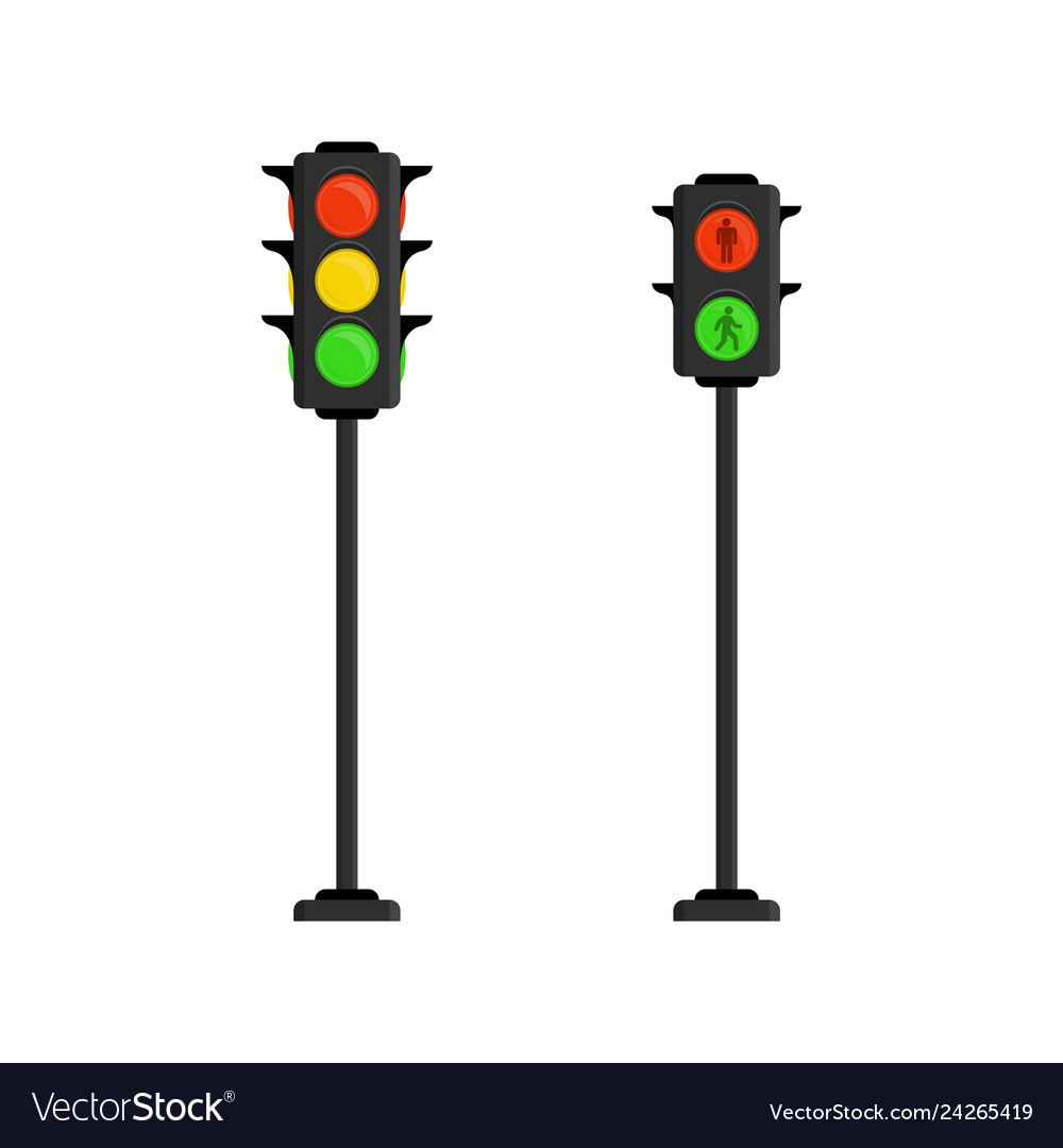 traffic lights royalty free vector image vectorstock vectorstock