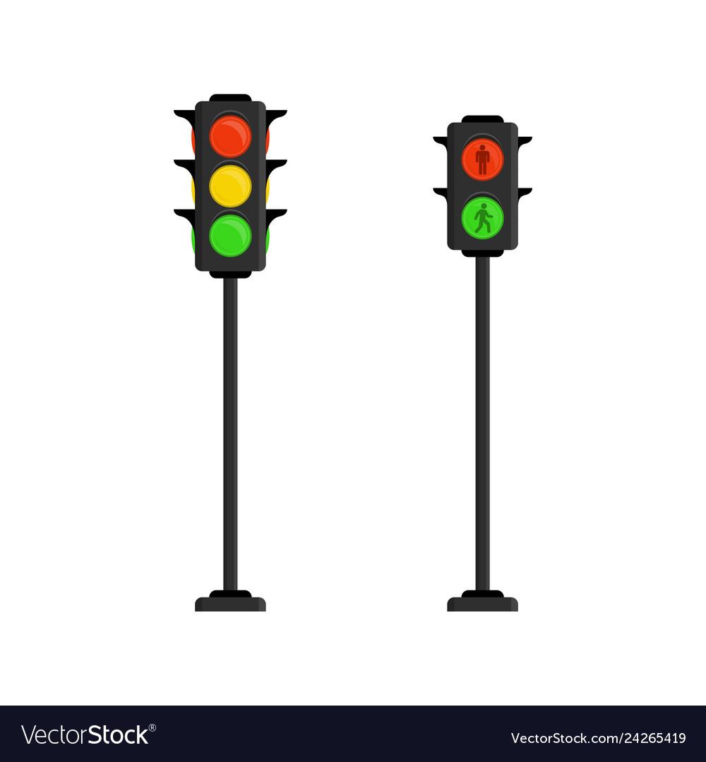 traffic lights royalty free vector image vectorstock vectorstock
