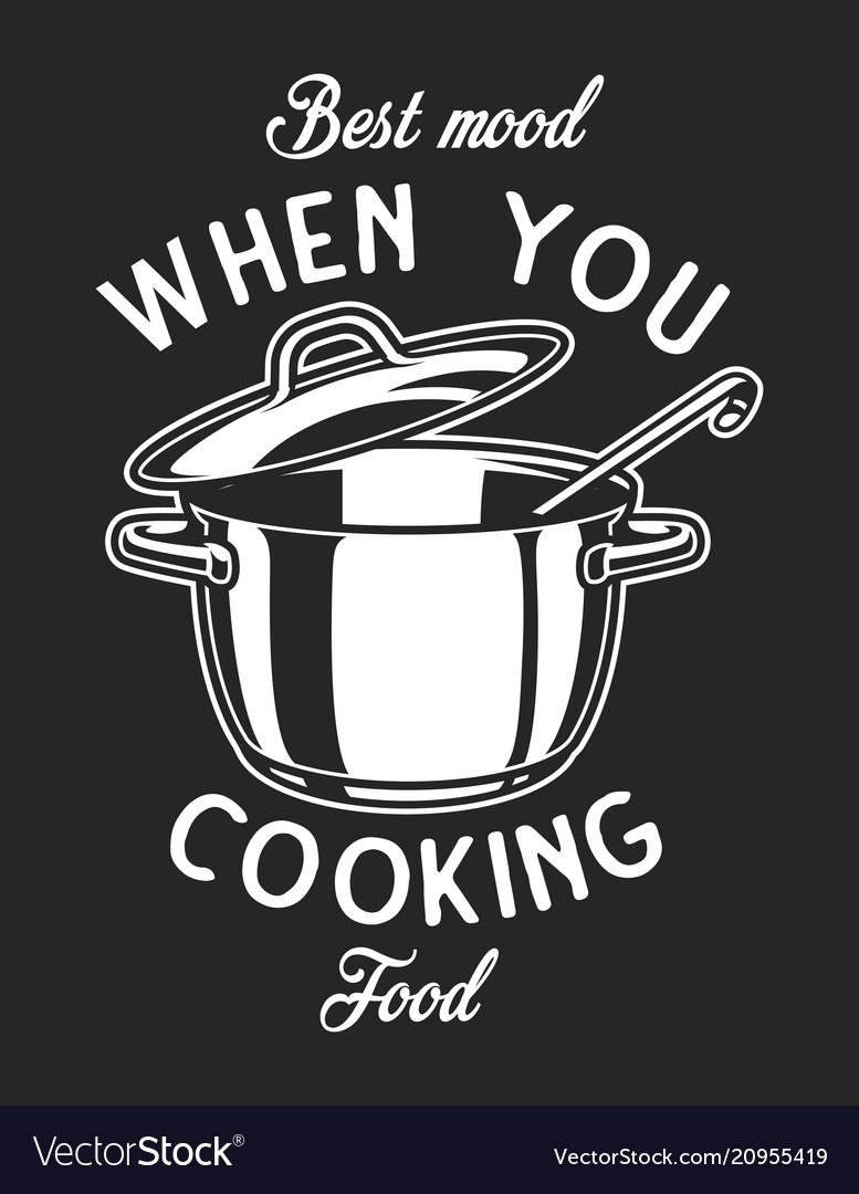 Vintage cookware monochrome logo