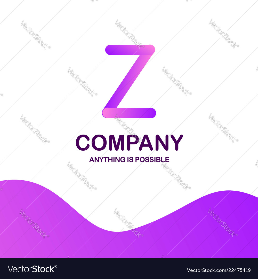 Z company logo design with purple theme