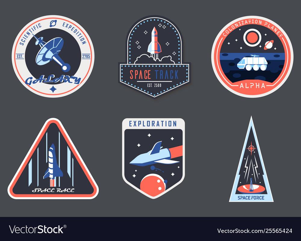 Astronaut chevron or spaceman suit patchcosmonaut