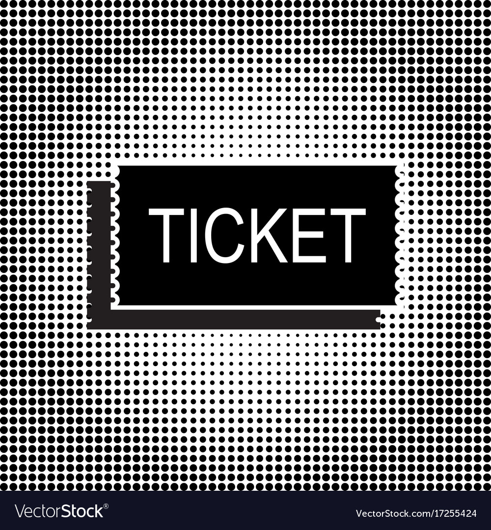 Black ticket icon