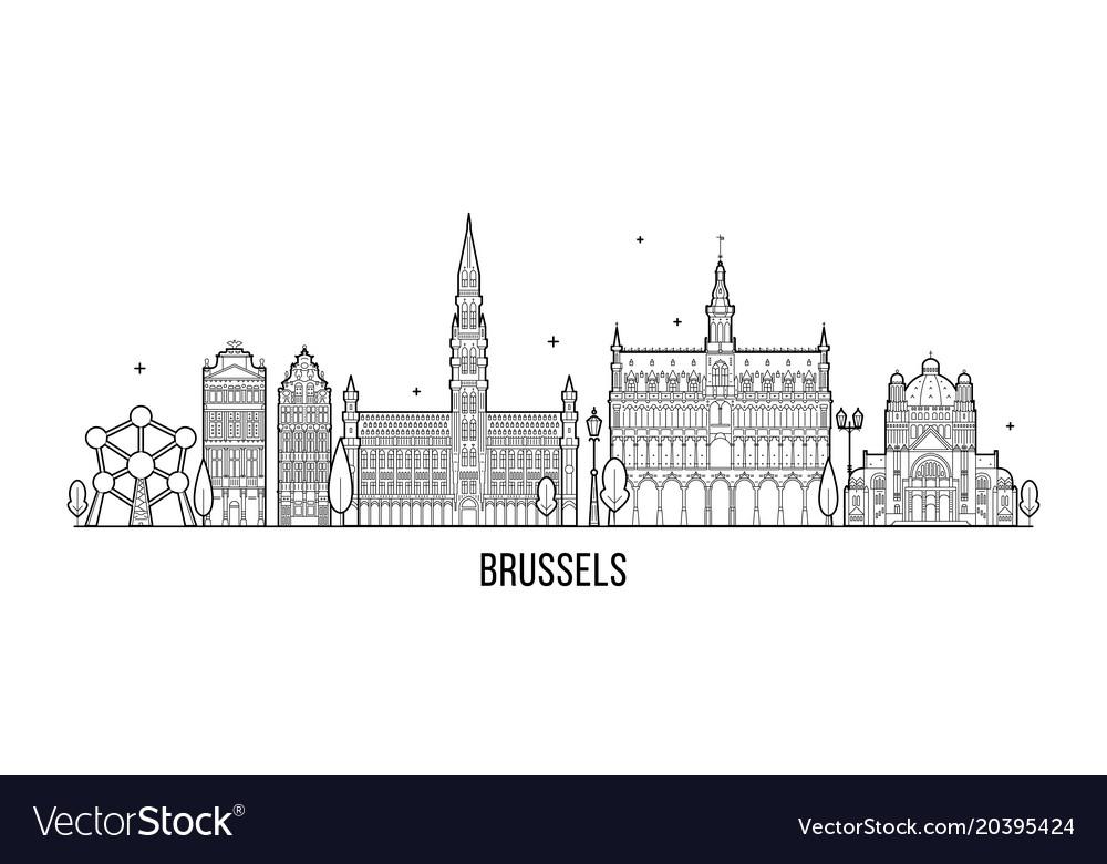 Brussel skyline belgium city buildings